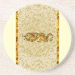 Dragon Dragon Cutout of Crystal Coasters
