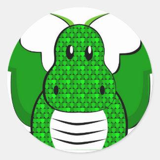 Dragon - Dragon Round Sticker