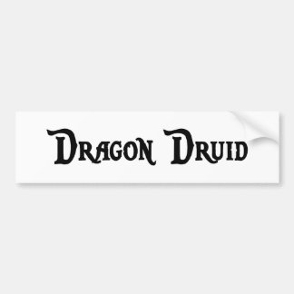 Dragon Druid Bumper Sticker