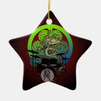 Dragon Drum 03 Ceramic Ornament