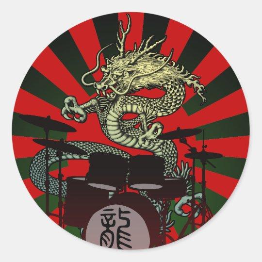 Dragon Drum 2 Classic Round Sticker