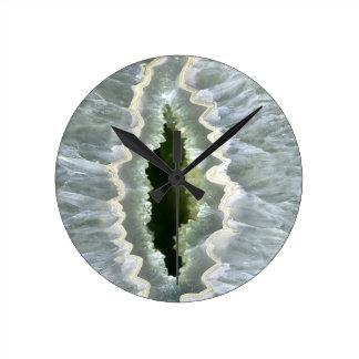 Dragon Eye Agate Druzy Round Clock