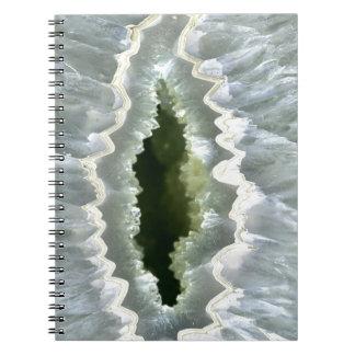 Dragon Eye Agate Druzy Spiral Notebook