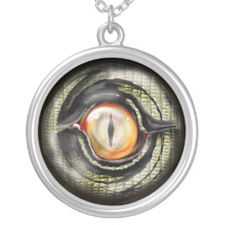 dragon eye silver plated necklace