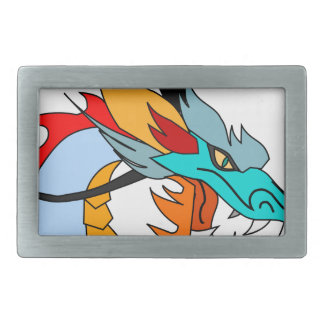 Dragon Face Drawing Belt Buckle