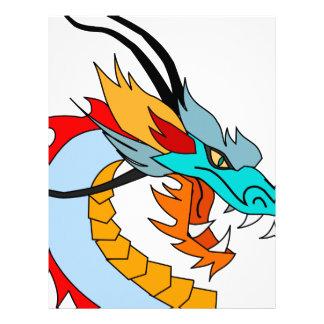 Dragon Face Drawing Letterhead