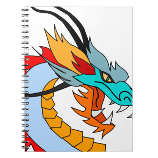 Dragon Face Drawing Notebook