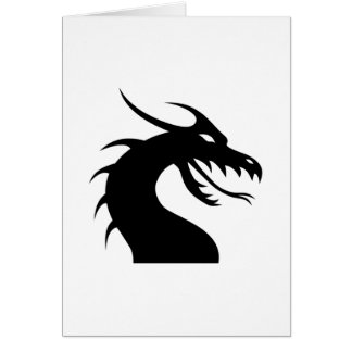 Dragon Face Silhouette Card