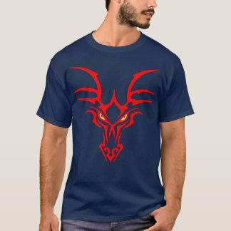Dragon Face with green glowing eyes Shirt