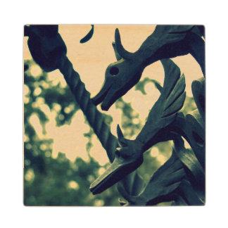 Dragon Fence Maple Wood Coaster