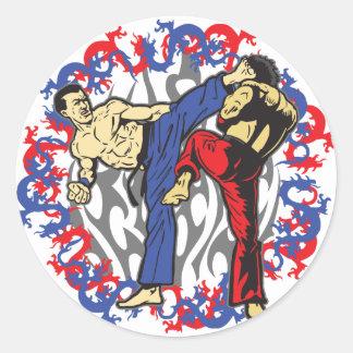 Dragon Fighters Classic Round Sticker