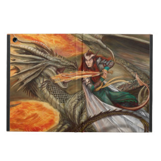 Dragon fighting a Teifling iPad Air Cases
