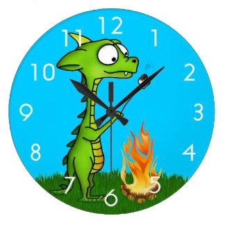 Dragon Fire Large Clock