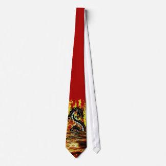 Dragon & Fire Mythical Fantasy Artwork Tie