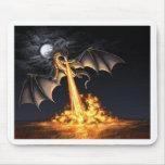 Dragon fire tapis de souris