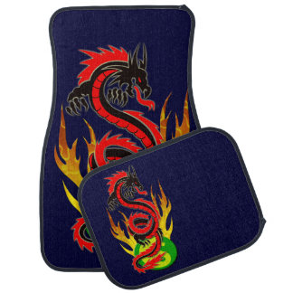Dragon Flame Yin Yang Car Mat