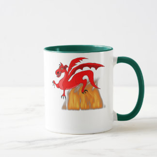Dragon & Flames Mug