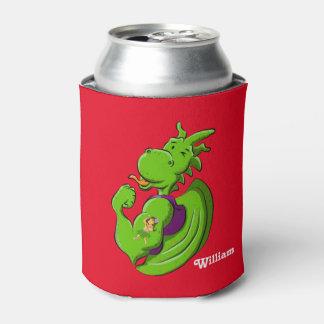 Dragon Flexing Biceps Can Cooler