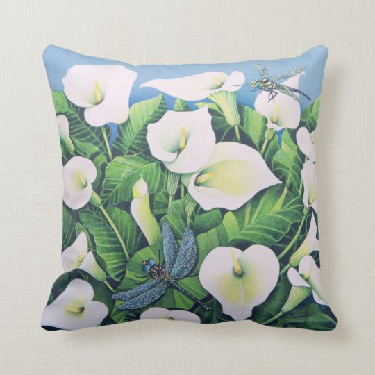 Dragon Flies Throw Pillow