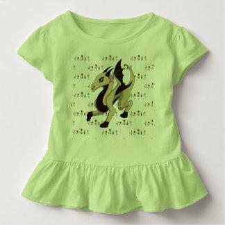 Dragon Flowers Ruffle Toddler Tee 3