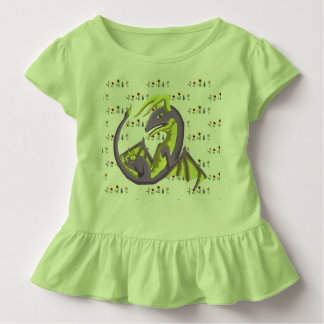 Dragon Flowers Ruffle Toddler Tee 4
