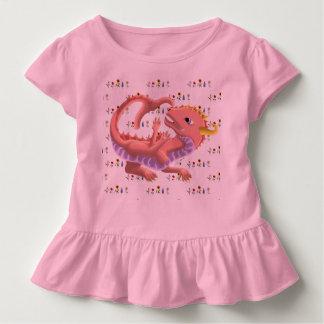 Dragon Flowers Ruffle Toddler Tee 5