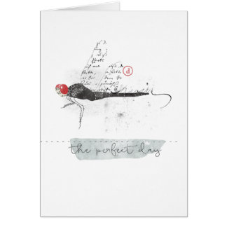 dragon fly the perfect day. greeting card