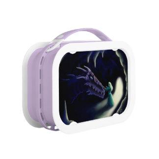 dragon friend fantasy artwork lunchbox