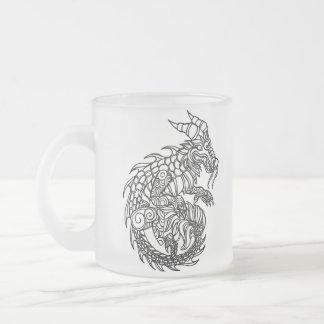 Dragon Frosted Glass Mug