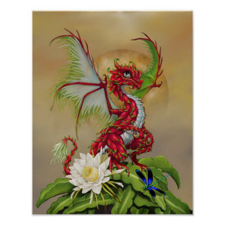 Dragon Fruit Dragon 11x14 (4x6 and up) Poster