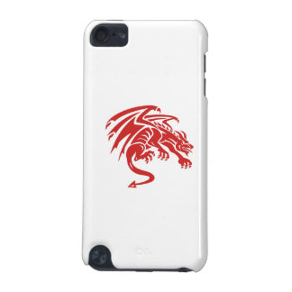 Dragon Gargoyle Crouching Silhouette Retro iPod Touch (5th Generation) Cover