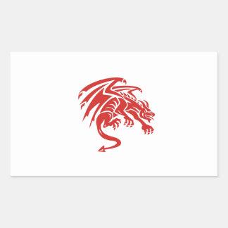 Dragon Gargoyle Crouching Silhouette Retro Sticker