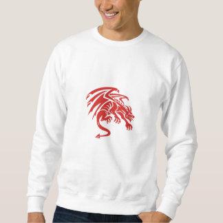 Dragon Gargoyle Crouching Silhouette Retro Sweatshirt