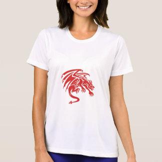 Dragon Gargoyle Crouching Silhouette Retro T-Shirt