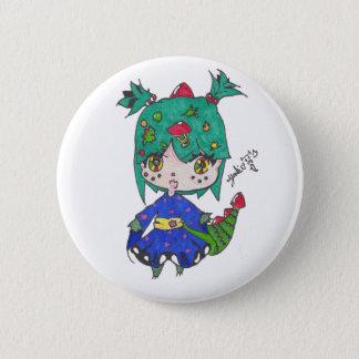 dragon girl edited 2 inch round button