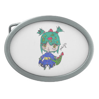 dragon girl edited belt buckle