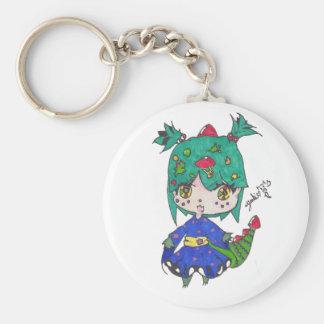 dragon girl edited keychain