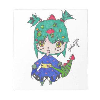 dragon girl edited notepad