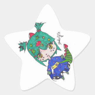 dragon girl edited star sticker