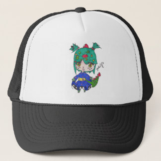 dragon girl edited trucker hat