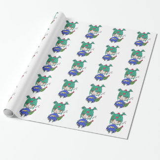 dragon girl edited wrapping paper