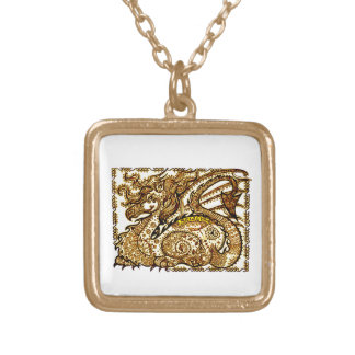 Dragon Gold Plated Necklace