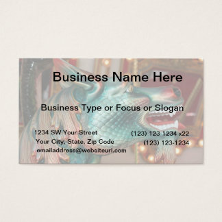 dragon head carousel ride fair image business card