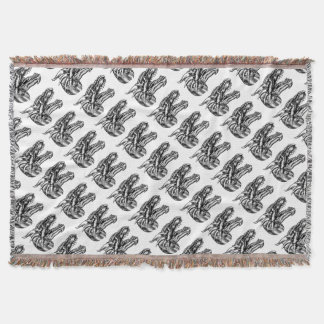 Dragon Head Design Throw Blanket