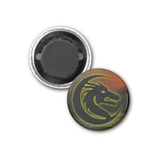 Dragon head magnet (round)