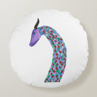 Dragon Head Round Pillow