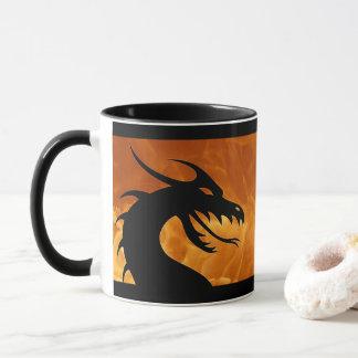 Dragon Head with Fire Coffee Mug
