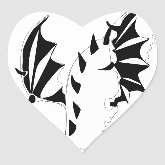 dragon heart sticker