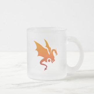 Dragon heat 10 oz frosted glass coffee mug
