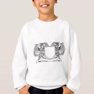Dragon Heraldry Crest Coat of Arms Shield Emblem Sweatshirt